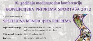 """10 međunarodna konferencija """"Kondicijska priprema sportaša 2012."""""""