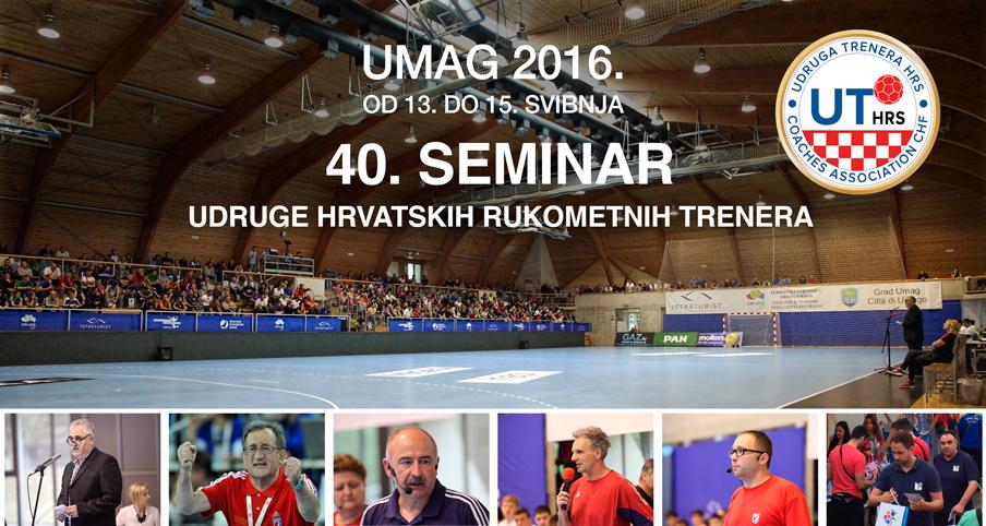 """""""XL (40.) Središnji seminar za trenere HRS-a"""", Umag od 13. do 15. svibnja 2016."""