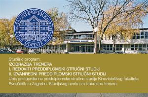 Upis pristupnika na preddiplomske stručne studije Kineziološkog fakulteta u Zagrebu u ak. 2018./19. godini