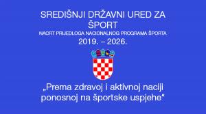 Nacrt prijedloga nacionalnog programa športa 2019. – 2026.