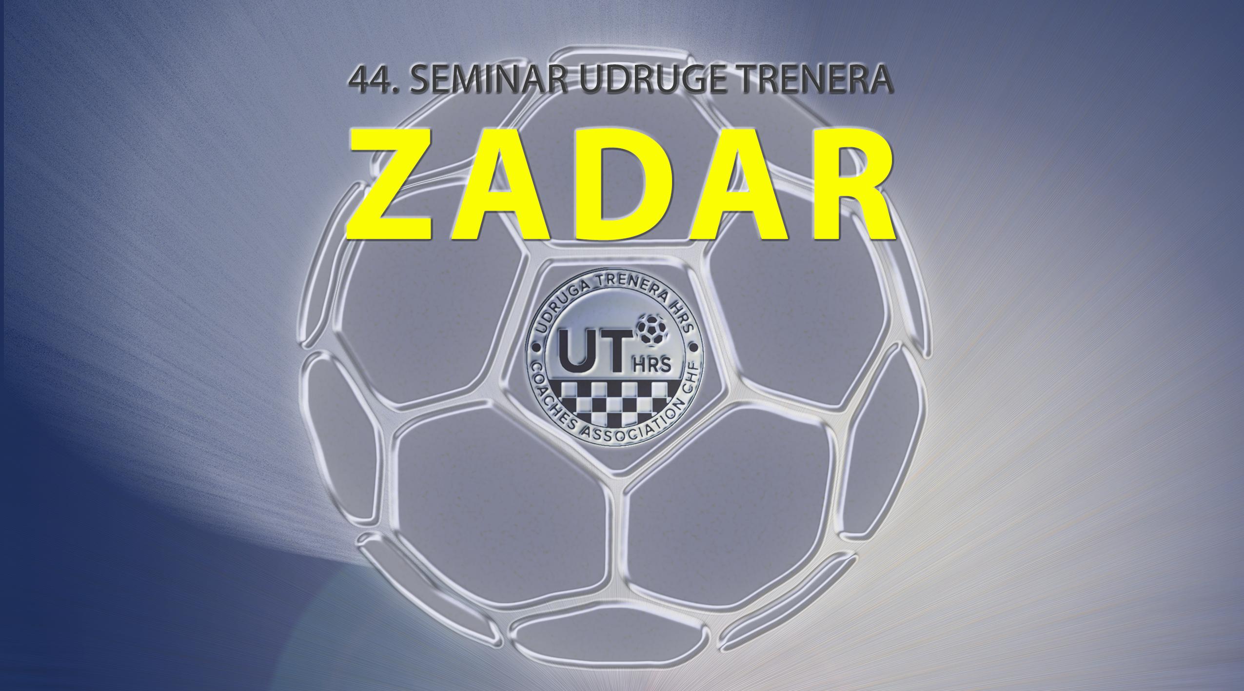 44. Središnji seminar trenera HRS- a održati će se od 4. do 6. rujna 2020. u Zadru