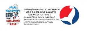 12. otvoreno prvenstvo Hrvatske u mini i super mini rukometu za djevojčice i dječake