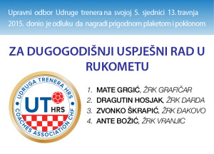 Read more about the article PRIZNANJE UDRUGE TRENERA HRS-a