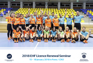 "2018 EHF ""Rinck"" Convention Master Coach and Licencing Course and 2018 EHF Licence Renewal Seminar"
