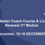 """Invitation to the 3rd Module of the  2018 EHF """"RINCK"""" Convention Master Coach and Licencing Course 10 – 16 December, 2018 in Créteil / FRA"""